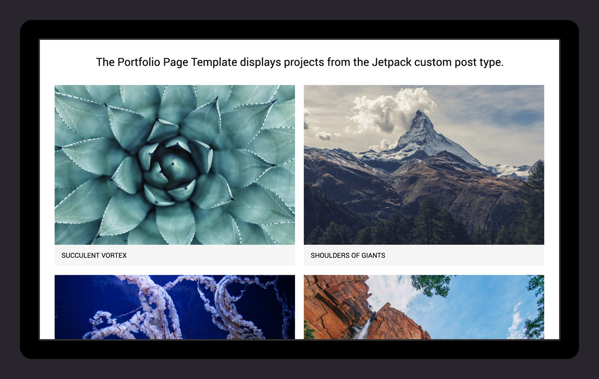 Showcase your art and design with the portfolio template!