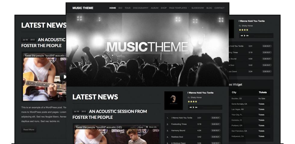 Музыкальный WordPress!