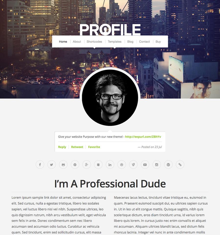 Profile Theme Wordpress Themes By Organic Themes