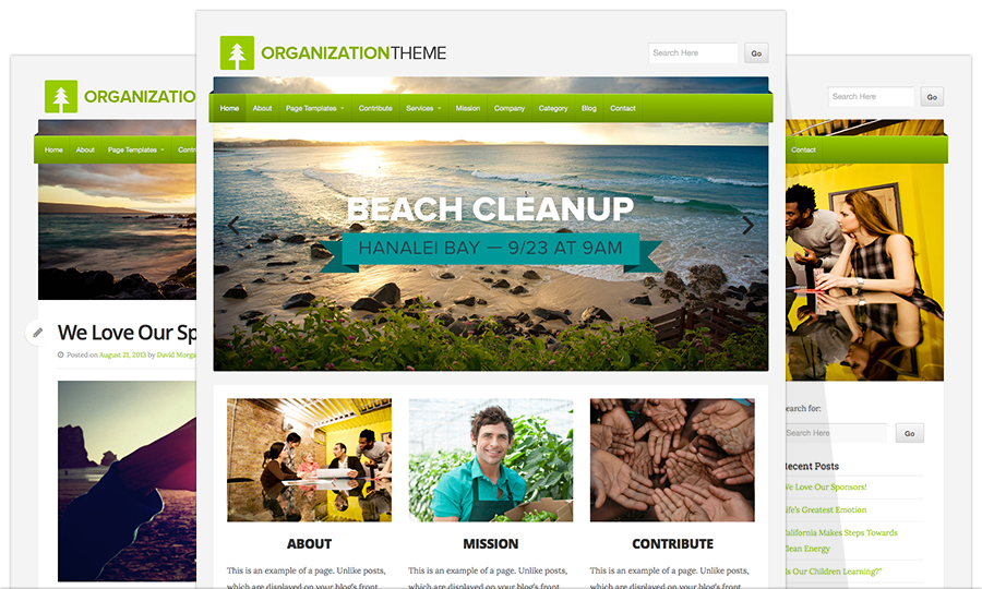Organization WordPress Themes WP.com Theme Release: Organization - WordPress Themes by Organic Themes WordPress Themes by ...