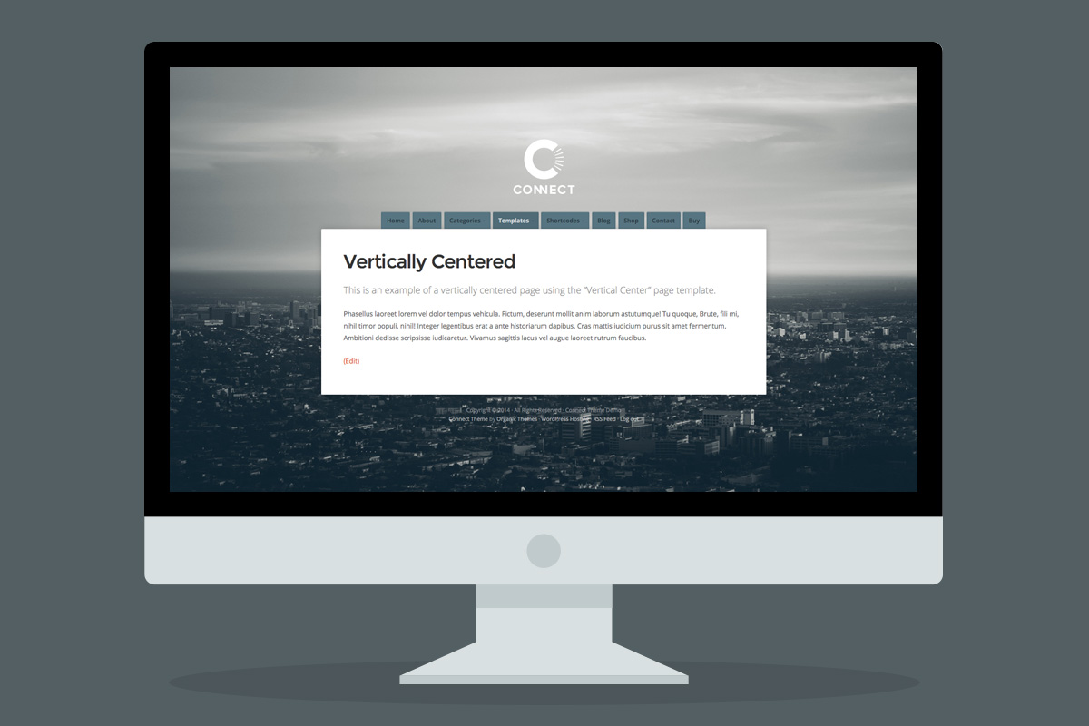 Vertically center pages using the Vertical Center page template!